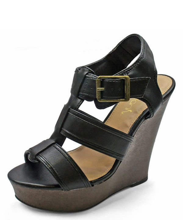 Another great find on #zulily! Black Maden Platform Wedge by Betani #zulilyfinds