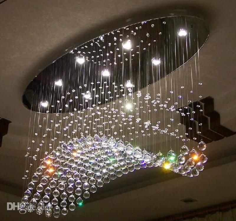 modern chandeliers living room photo 6