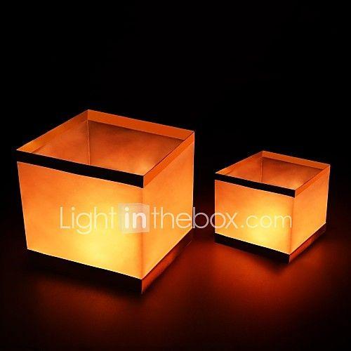 Superb Quadrato Che Desidera Lanterna Lanterne Galleggianti Lampada Luce Con  Candela Carta Quadrata Che Desidera Fiume Galleggiante Acqua Pictures Gallery