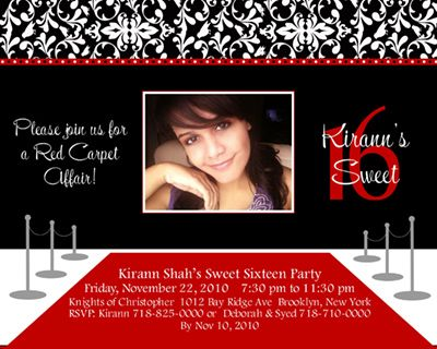 Red carpet birthday party invitation ideas3 – Red Carpet Party Invitation