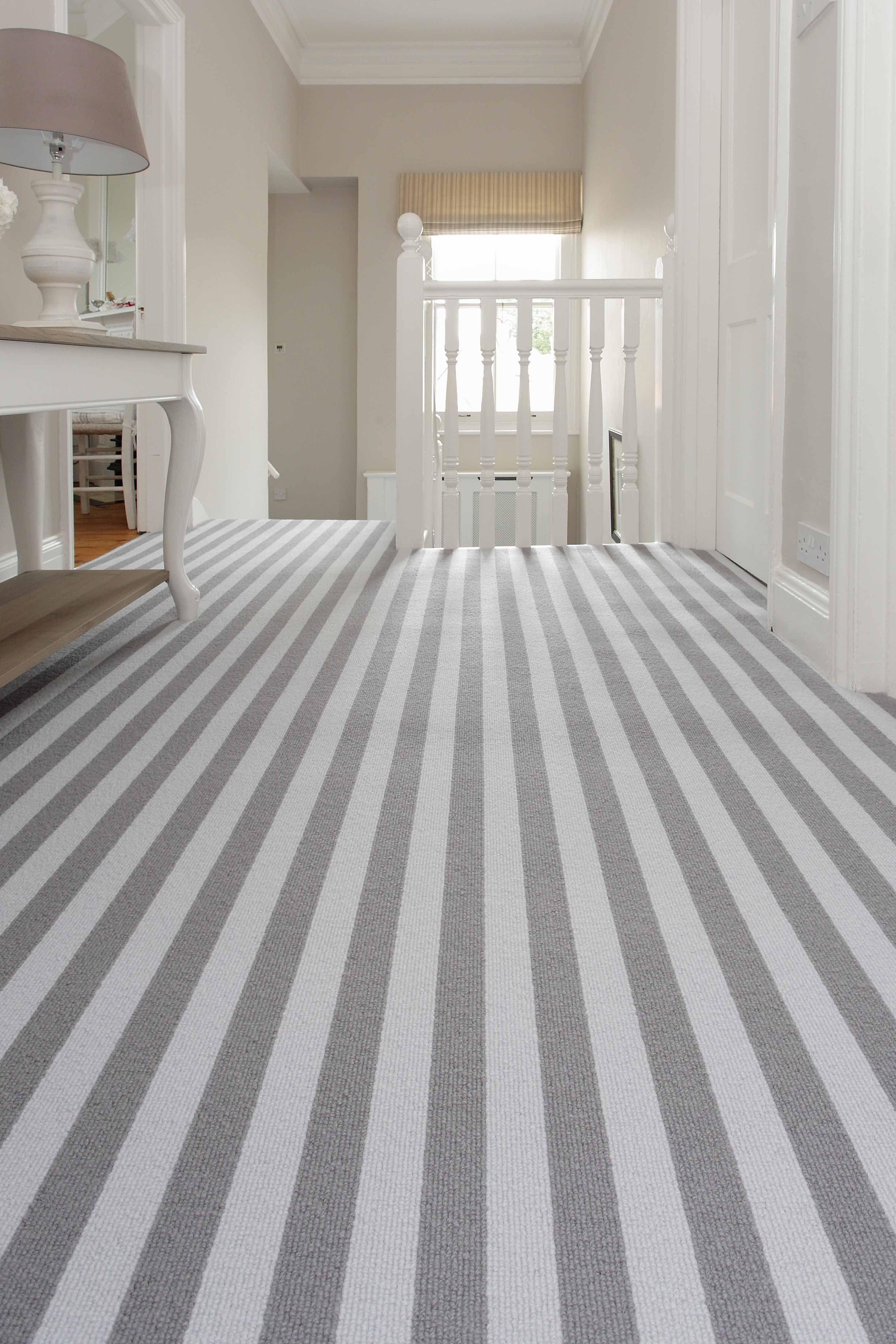 Grey wool Bloc Stripe carpet by Alternative Flooring