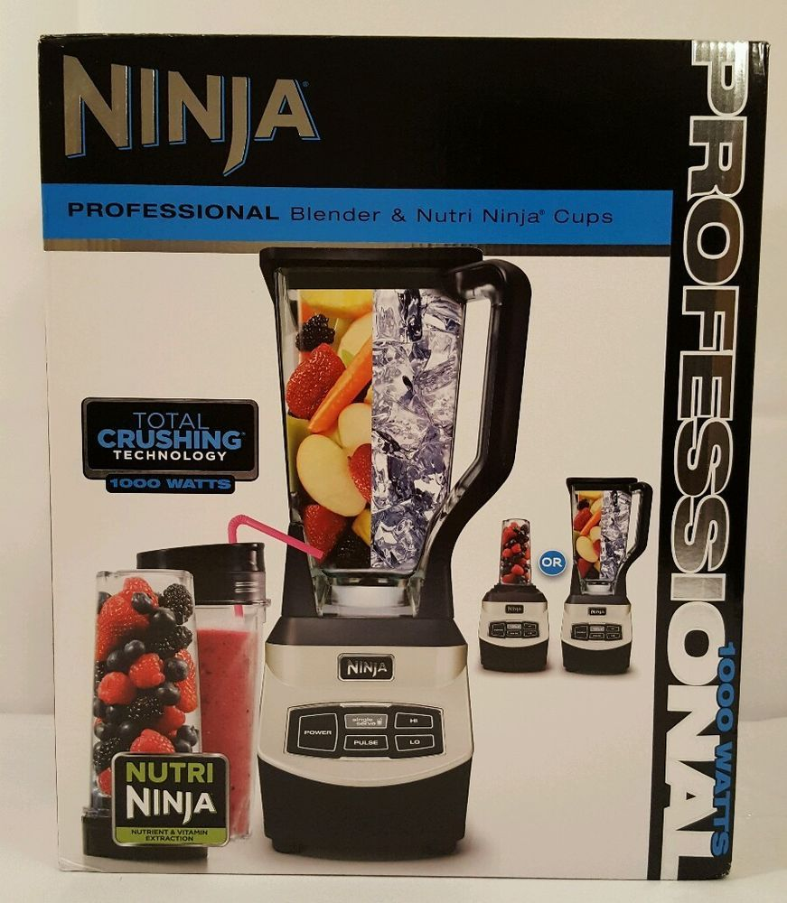 Ninja professional blender nutri ninja cups 1000 watts