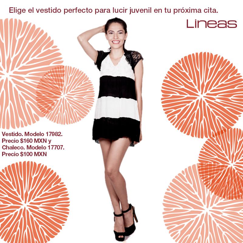 El vestido perfecto para cualquier cita. #Lineas #outfit #moda #tendencias #2014 #ropa #prendas #estilo #primavera #outfit #vestido