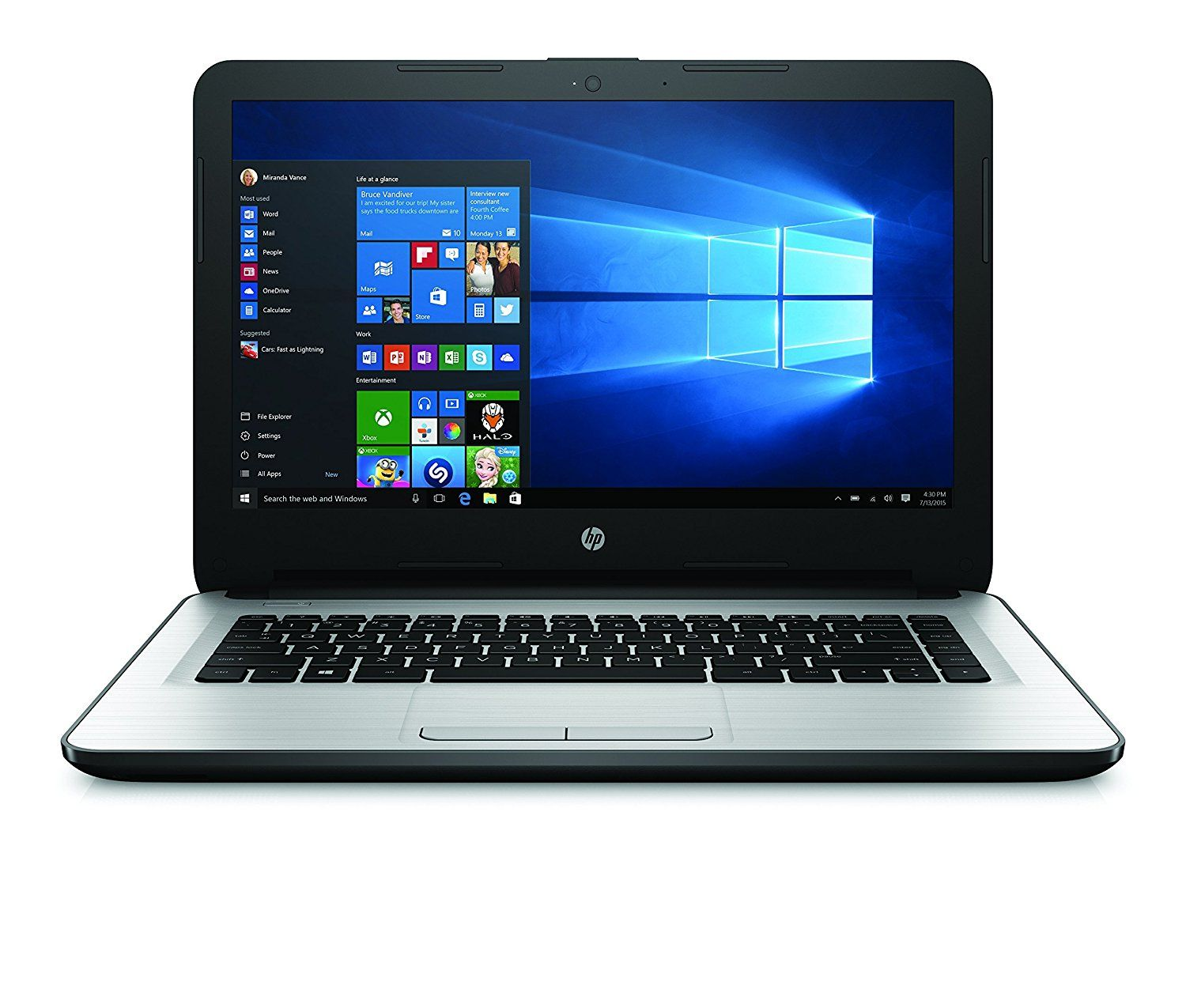 Vente Pc Portable Hp 14 Am009nf Pc Portable 14 Noir Pc Portable Pas Cher Amazon