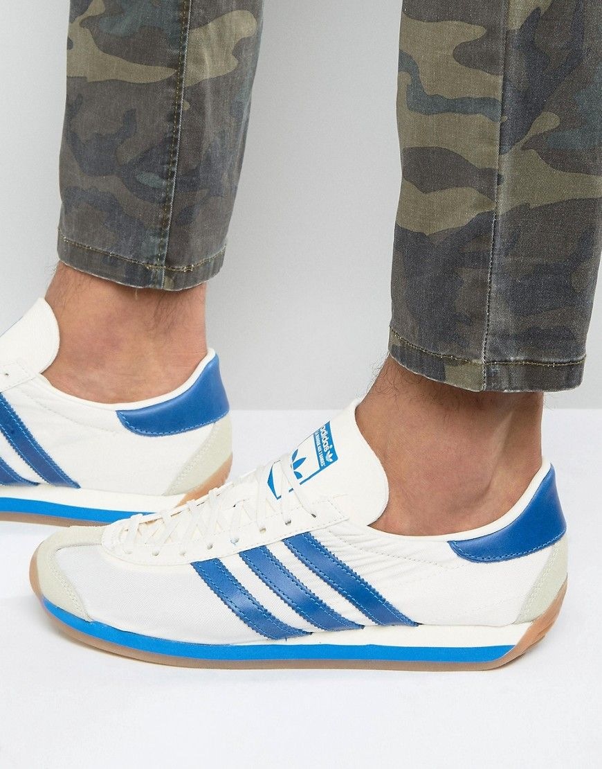 buy popular c15d7 22d6f adidas+Originals+Country+OG+Trainers+In+White+S32107