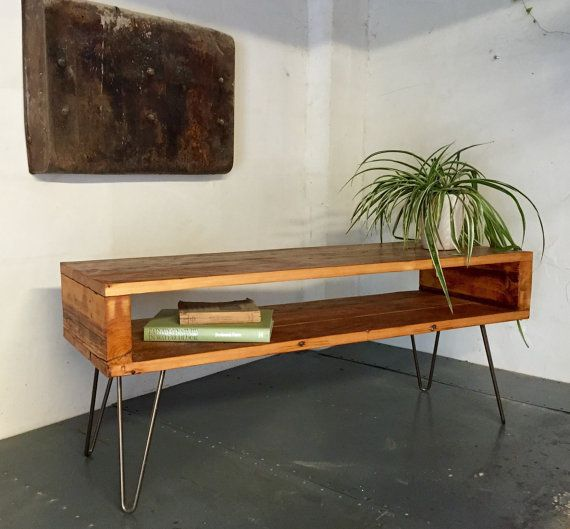 Industrial Tv Stand And Coffee Table: Rustic Industrial Vintage Side Table/ Coffee By