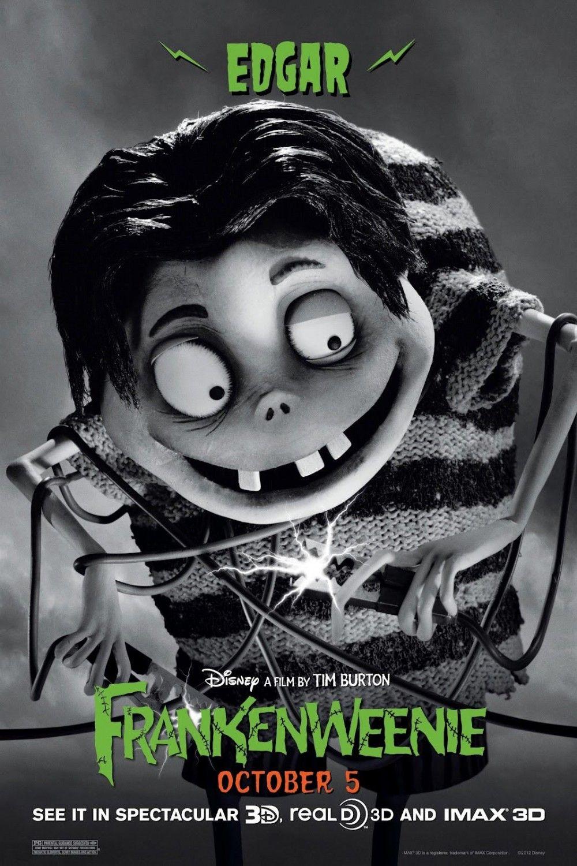 Frankenweenie Character Posters Tim Burton Tim Burton Films Tim Burton Characters