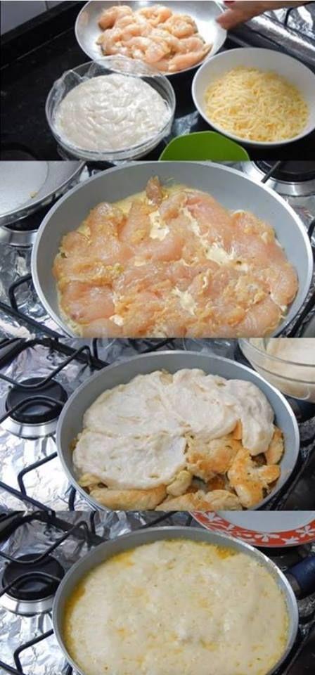 File De Frango Ao Molho Branco Comida Deliciosa Comida Sin