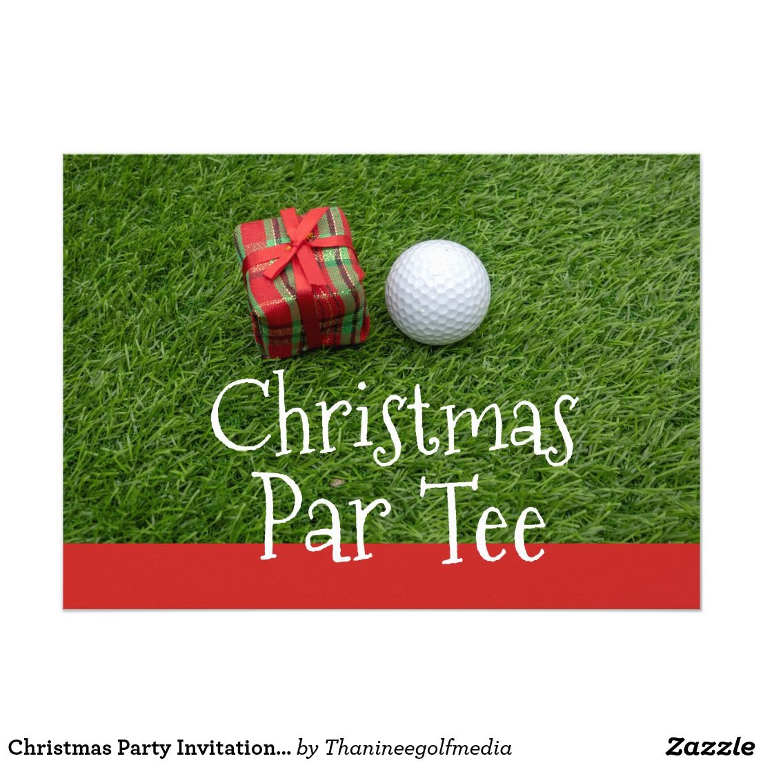 Christmas party invitation for golfer
