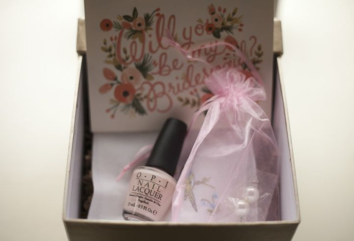 asking your bridesmaids with a will you be my bridesmaid box