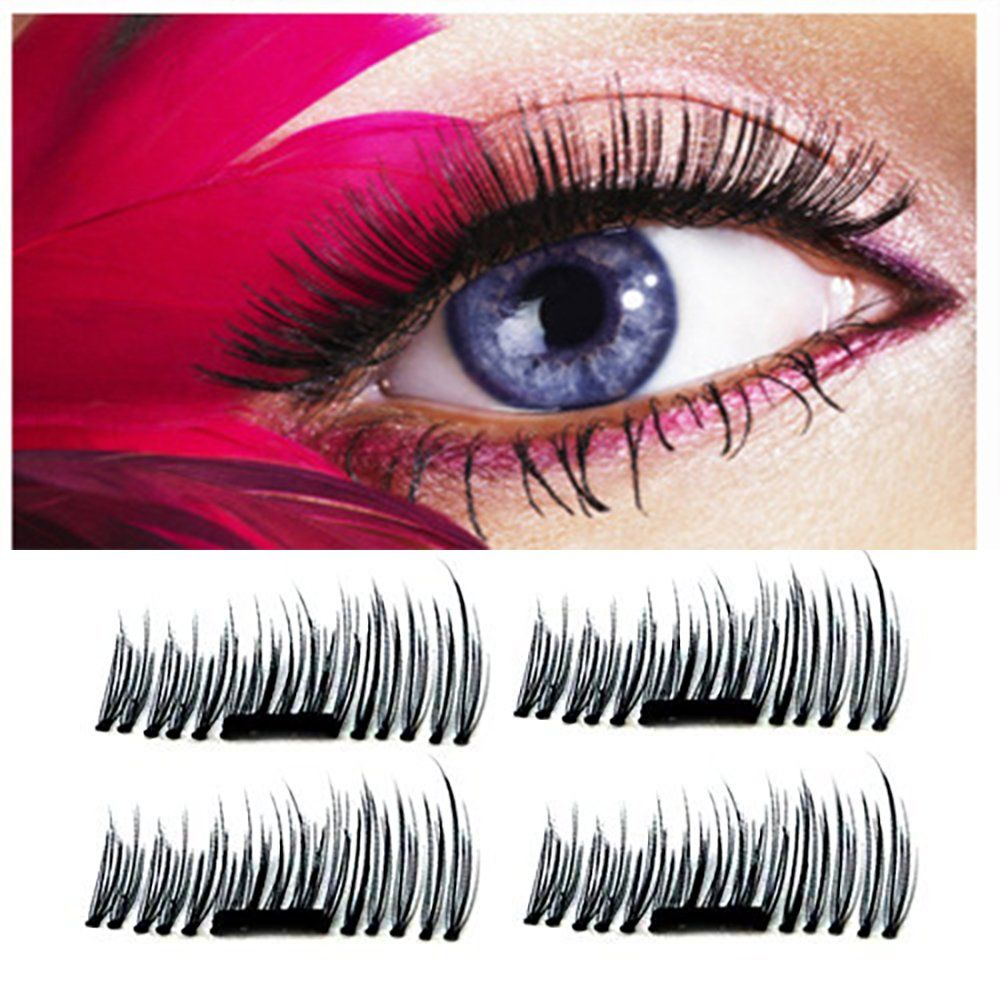 Meinaier 3d Reusable No Glue Ultra Thin Magnetic False Eyelashes