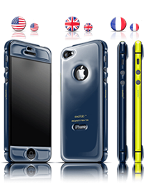 Navy  gel guard for iPhone 5/5s       exofab.com