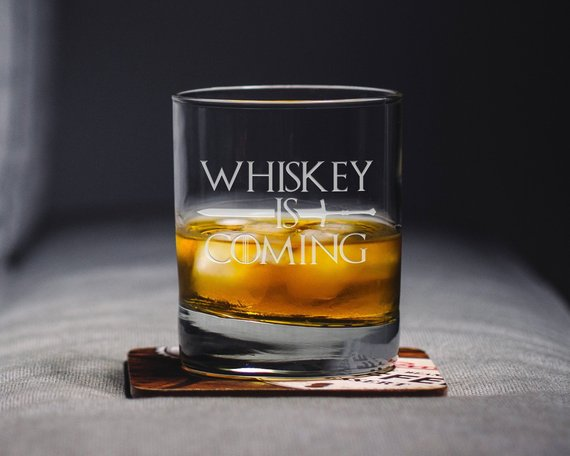 Drinking Responsibly means Not Spilling Novelty Engraved//Printed HiBall Glass
