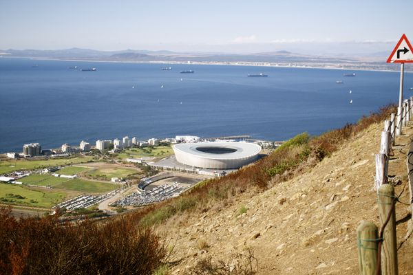 View on Captown Stadion from Signal Hill