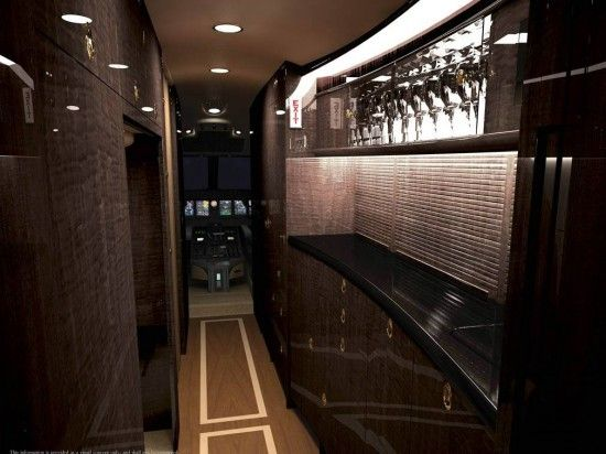 Galley Onboard A Private Jet VIP Flight Attendant Training Details At Wwwtr