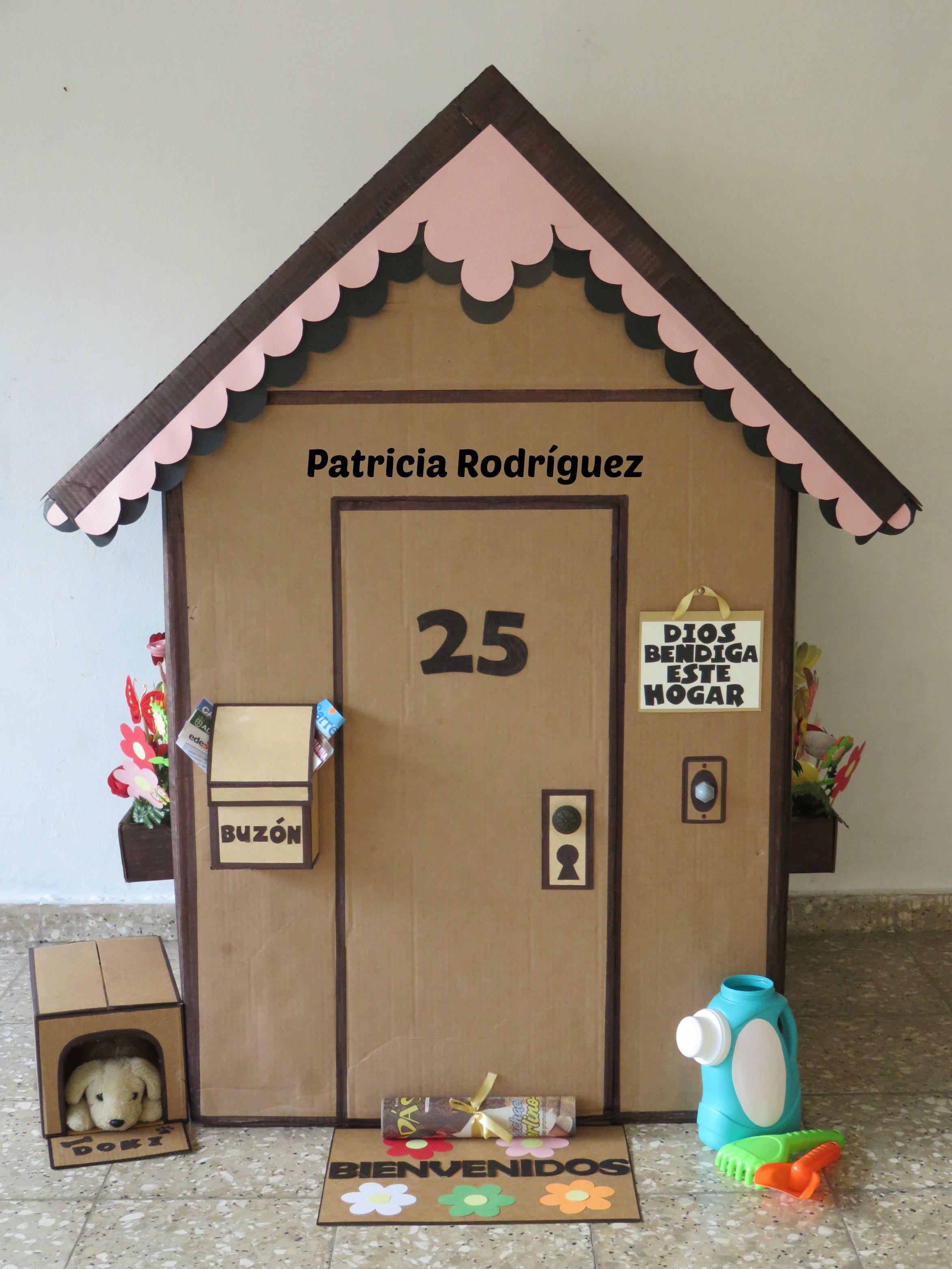 Casa en cartón Casas de cajas de cartón, Casas de cartón