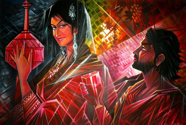 Buy Paintings Online by Artist Manik Chitriv - Madhushala - CE101856