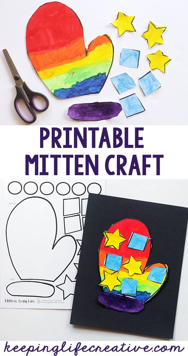 Learn more about a favorite wintertime book, and create a fun mitten craft using a printable template.