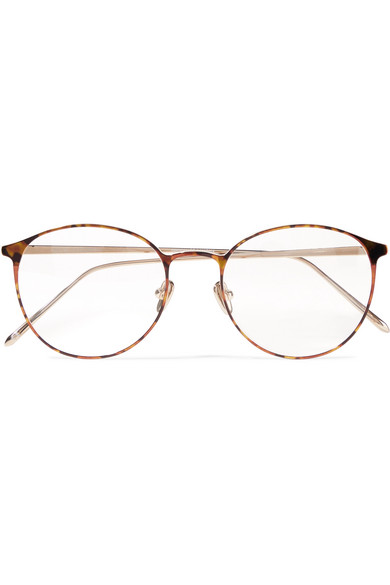 Photo of Linda Farrow – Round-frame Tortoiseshell Acetate And Gold-tone Optical Glasses