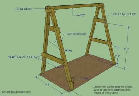 Diy Wood Freestanding Outdoor Swing Plans Google Search Projects