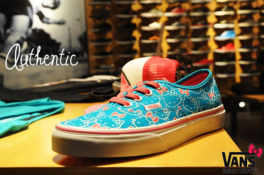 eb74324e1 Authentic (Hello Kitty) Hawaiian Ocean Blue/ Hot Pink (P2,798) Available at  Vans Concept Stores!