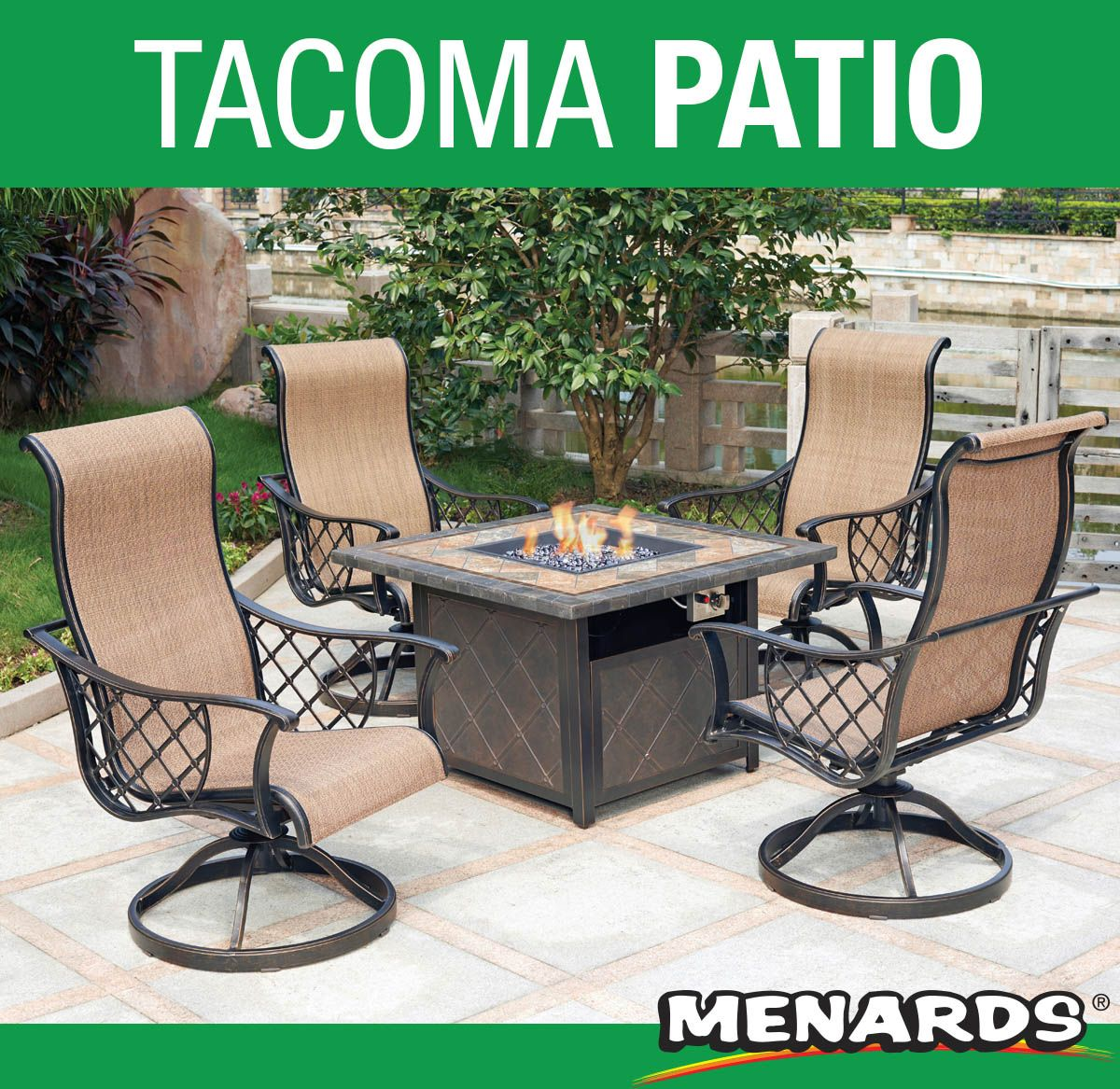 Add elegance and warmth to your backyard with the