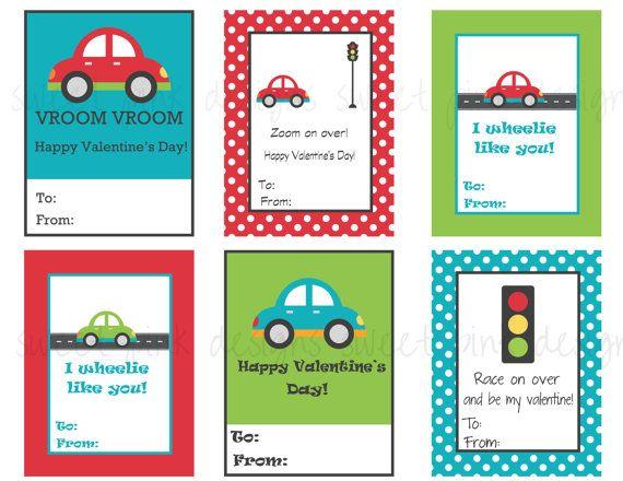 Car Valentineu0027s   Printable Kids Valentines (unfortunately Not Free)
