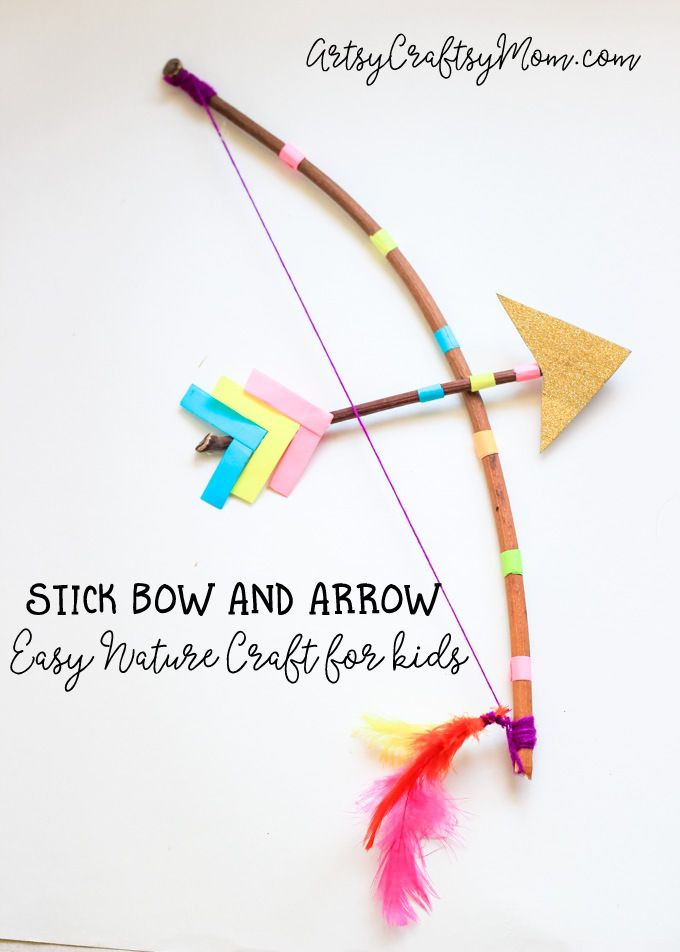 Stick Bow And Arrow Craft For Kids Arrow Crafts Bow