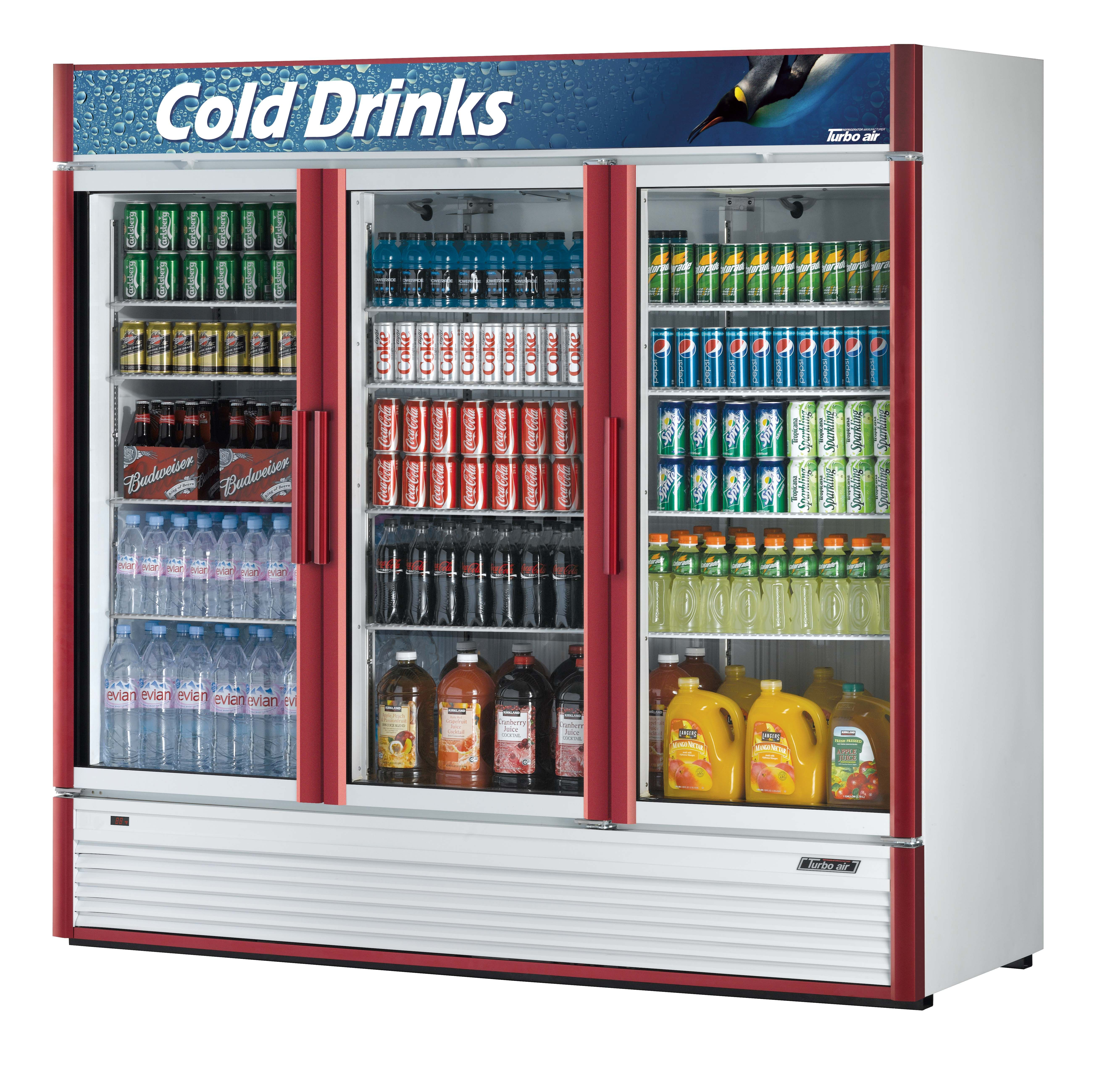 Refrigerator 71 3 Cu Ft 3 Swing Doors Refrigerador 71 3 Pies