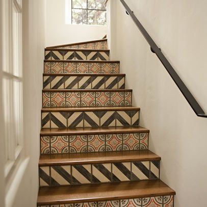 Designs For Stair Risers | Stair Riser Tiles Design Ideas, Pictures ...