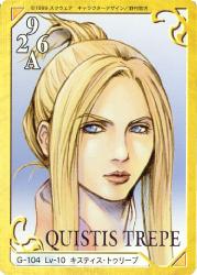 Quistis Trepe Triple Triad Card Final Fantasy