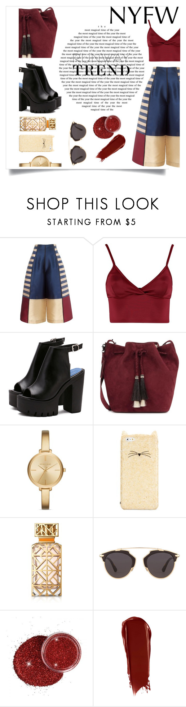 """""""Nyfw style"""" by harrariz ❤ liked on Polyvore featuring Lipsy, Loeffler Randall, Michael Kors, Kate Spade, Tory Burch, Christian Dior and NARS Cosmetics"""