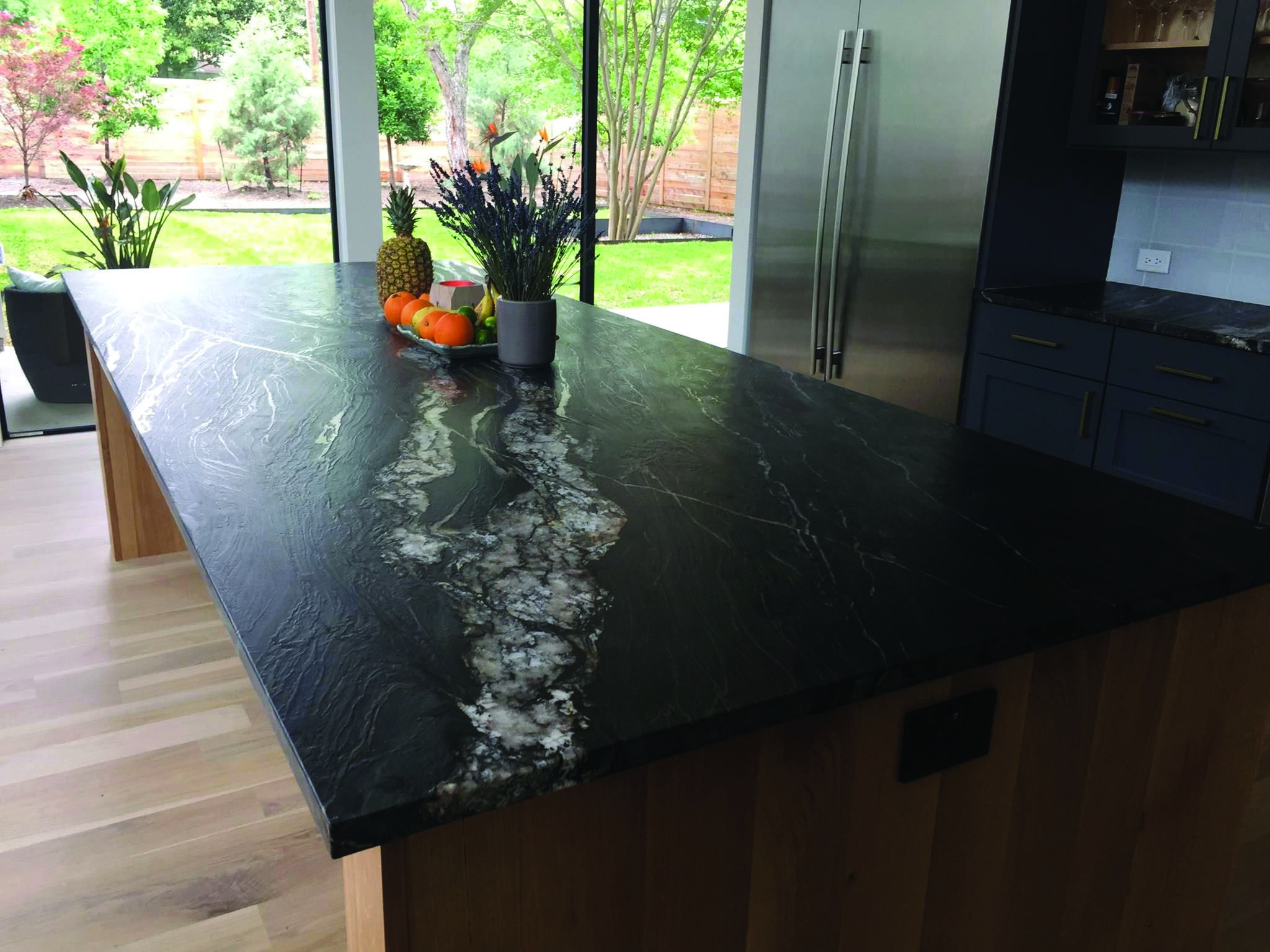 Black Pearl Marble Black Granite Countertops Leather Granite