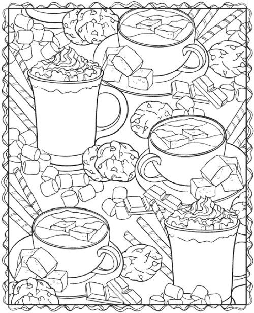 22 Christmas Coloring Books To Set The Holiday Mood Coloring Books Food Coloring Pages Coloring Pages