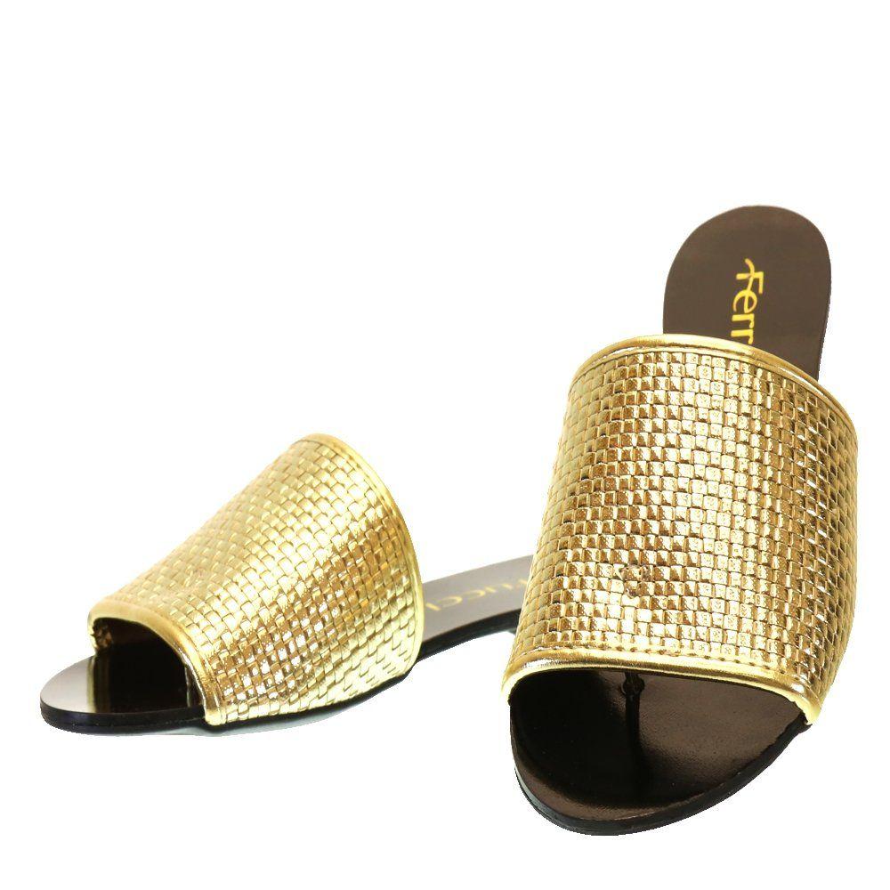 Moselle Boutique Femininos Sua Para Sandália Rasteira Ouro 7201 Finos Ferrucci Sapatos wgqg1aXxvH
