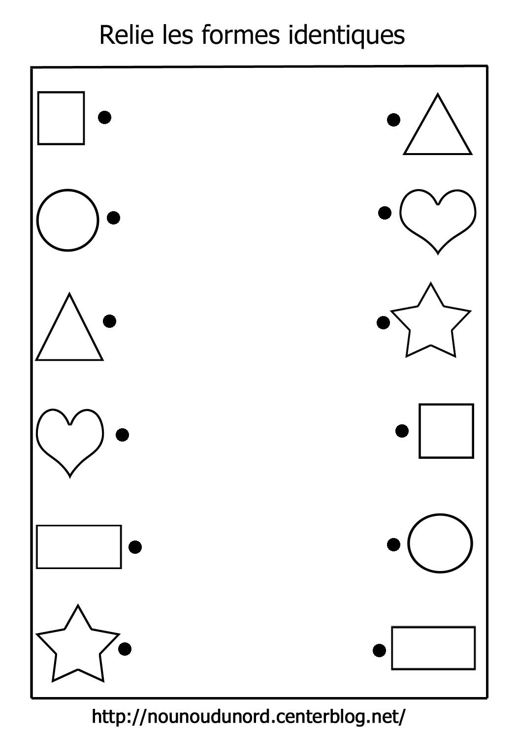 Reread Identical Shapes Preschool Kindergarten