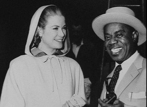 Grace Kelly and Louis Armstrong