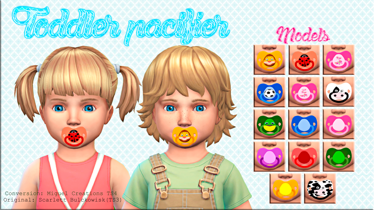 Lana Cc Finds Victorrmiguellcreations Toddler Pacifier Acc Sims 4 Pinterest