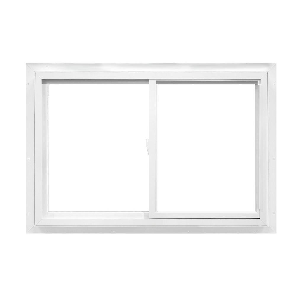 American Craftsman 36 In X 35 In 2392 Series Slider Reversible Vinyl Window White Sliding Vinyl Windows Window Vinyl American Craftsman