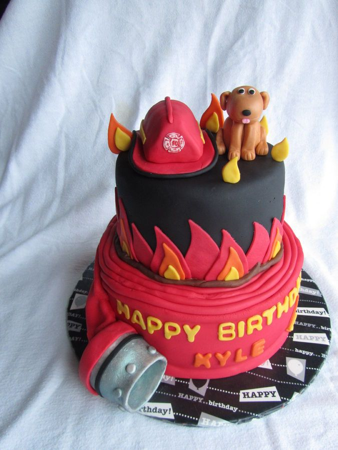 Firefighter Pride Birthday Cake Shared By Lion Hot Cakes