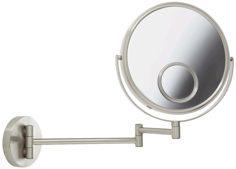 Jerdon Style 10x magnification makeup mirror is reversible