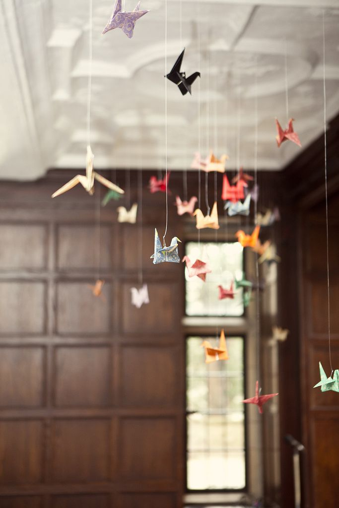 Need to this somewhere in our house with our wedding cranes