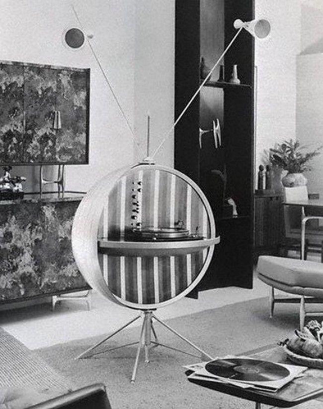 Sputnik themed record player, 1959