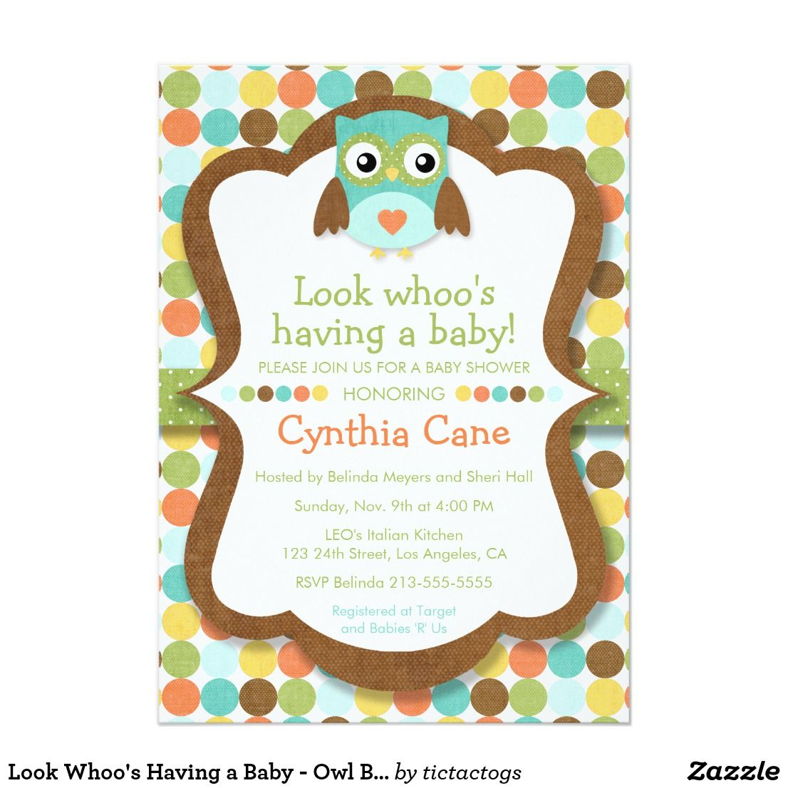 look whoo s having a baby owl boy baby shower card your baby
