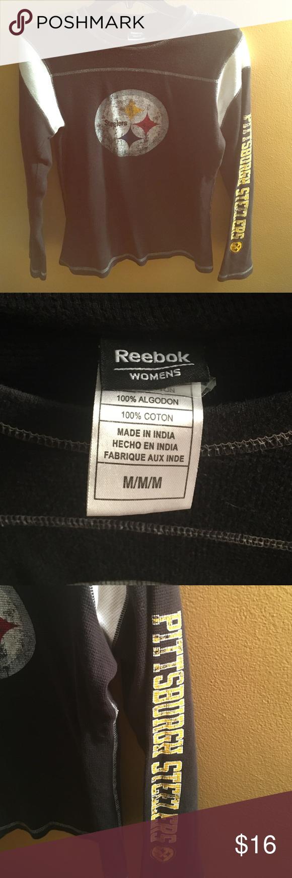 Pittsburgh Steelers thermal shirt Reebok - women's size medium - Pittsburgh Steelers thermal top Reebok Tops Tees - Long Sleeve