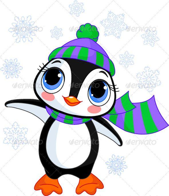 CUTE PENGUIN SCARF BLUE PENGUIN PRINT SCARF SCARF XMAS CHRISTMAS SCARF GIFT