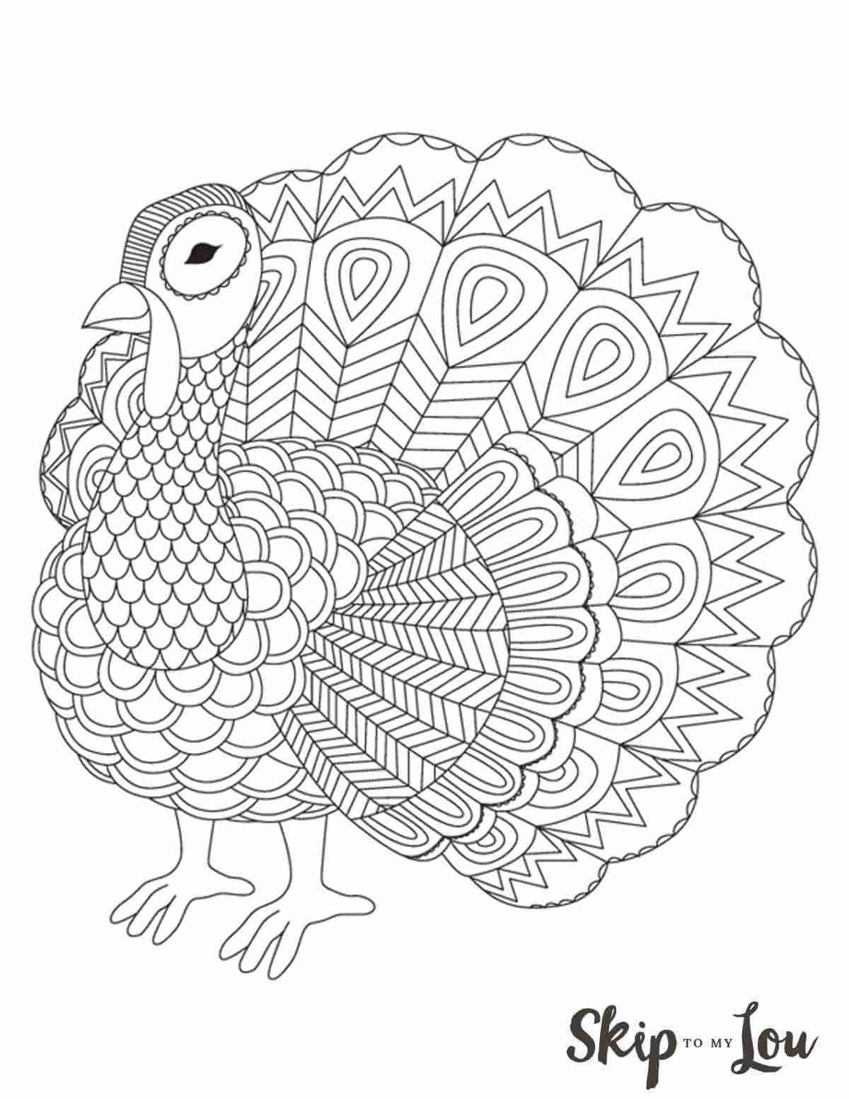 Large Printable Thanksgiving Coloring Pages Design