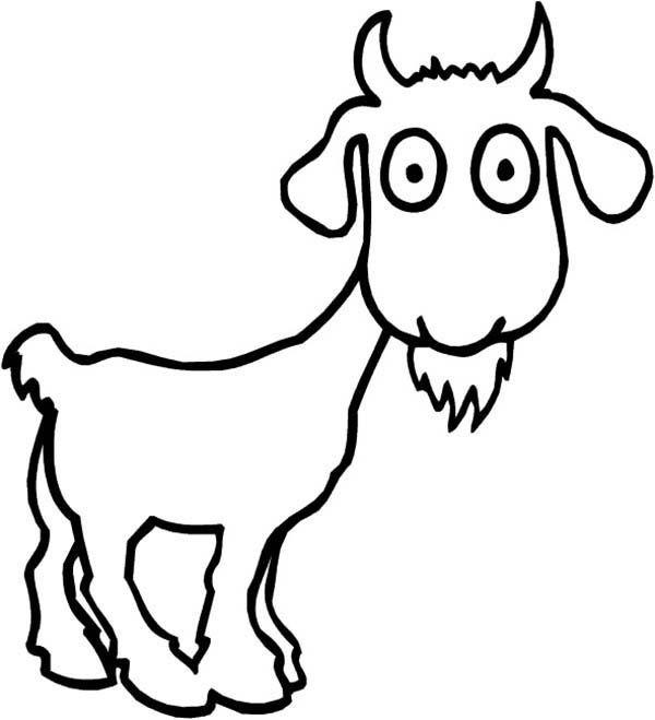 Adult Coloring Page Goatzen Art Style Illustration C Goat Art