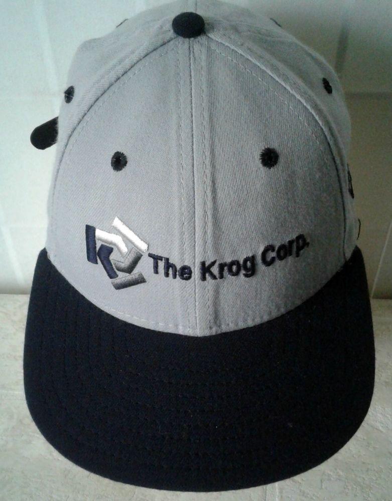 358a55bb82338 Vintage New Era Strapback Hat Made in USA Promo Advertising Custom Cap Krog  Corp  vintagefashion  hat  newera