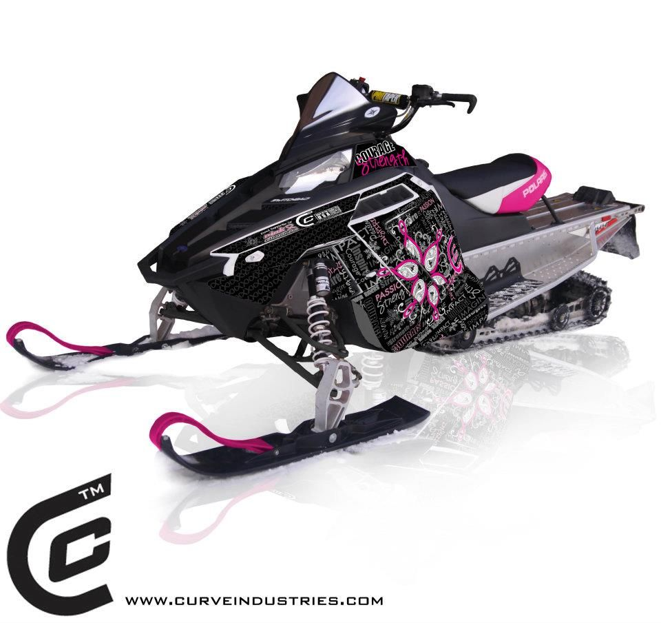 Pink Ribbon Riders Polairs Wraps Curve Interactive